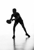 27-06-2014 - Silhouettes of pupils doing sport at Priory school, Weston Super Mare © Paul Box
