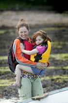 15-06-2008 - A mother and daughter going boating, Pembrokeshire. © Paul Box