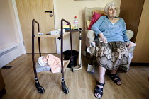 09-11-2010 - A resident of Ty Darren Care Home, a council-run care home which is due to close due to council cuts. Newport, Wales © Paul Box