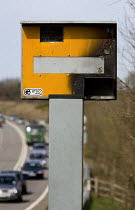 06-10-2011 - A Gatso speed camera that has been vandalised on the A361 in Devon © Paul Box
