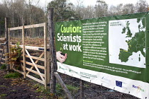 08-11-2012 - Caution: scientists at work. Scientific international trial to monitor the effect climate change is having on trees, Research will measure survival, health, height, trunk diameter and form across a wi... © Paul Box