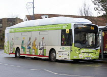 17-12-2014 - The UKs first bus powered entirely by human and food waste, in service between Bristol and Bath. The 40-seat Bio-Bus runs on biomethane gas generated through the treatment of sewage and food waste. It... © Paul Box