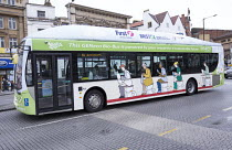 02-04-2015 - The UKs first bus powered entirely by human and food waste, in service between Bristol and Bath. The 40-seat Bio-Bus runs on biomethane gas generated through the treatment of sewage and food waste. It... © Paul Box