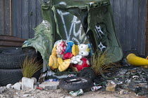 27-08-2015 - Dismaland a parody of Disneyland theme park by Banksy, Weston Super Mare. A puppet revue show constructed entirely from the contents of Hackney skips, a Fly Tip Theatre by Paul Insect and Bast at the... © Paul Box