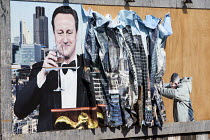 07-09-2015 - David Cameron by Peter Kennard and Cat Phillips at the Bemusement Park Dismaland a parody of Disneyland theme park by Banksy, Weston Super Mare. © Paul Box