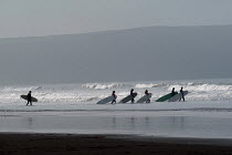 12-02-2004 - A surf school at Woolacombe in Devon. © Paul Box