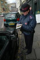 03-03-2004 - Female parking attendant , Bristol © Paul Box