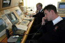 03-03-2004 - Parking attendants in the control room at parking services centre, Bristol © Paul Box