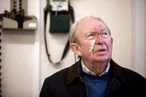 07-01-2006 - Bridgnorth Hospital, a community hospital. An elderly man with a head injury attends the minor injuries clinic. The hospital faces closure as the Shropshire County Primary Care Trust needs to make cut... © Paul Box