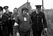 21-07-1972 - Dock strike 1972. Tony Merrick, Conny Clancy and Derek Watkins were arrested while picketing Midland Cold Store, East London for for contempt of court for picketing after the Vestey Group obtained an... © Peter Arkell