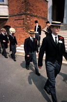 26-05-2001 - The register is taken during the annual Speech Day at Harrow School © Philip Wolmuth