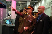 09-09-2003 - A Chinese Army delegation at the Defence Systems and Equipment International Exhibition, Docklands, London 9/9/03. © Philip Wolmuth