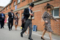 18-06-2009 - Racegoers approach the Royal Enclosure at Ascot racecourse on Ladies Day. © Philip Wolmuth