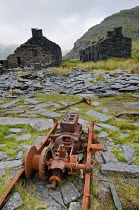 11-08-2009 - Ruins of miners cottages at the abandoned Cwmorthin Slate Quarry, Snowdonia National Park, Wales © Philip Wolmuth