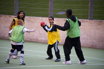 14-03-2011 - Handball game at an After-school club at the Winchester Project, Swiss Cottage, which may close due to cuts to Camden Council's funding. © Philip Wolmuth