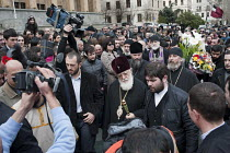 09-04-2011 - Catholicos Patriarch Ilia II, head of the Eastern Orthodox Church in Georgia, attends a memorial rally on the anniversary of the 1989 Soviet massacre of 20 hunger strikers outside the Parliament build... © Philip Wolmuth