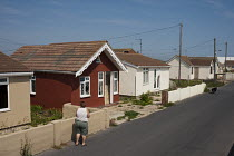 03-08-2011 - Vandalised bungalows on the Brooklands Estate in Jaywick Sands, close to Clacton-on-Sea. The estate's small wooden houses - many little bigger than beach huts - were originally built as holiday homes.... © Philip Wolmuth