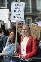 30-03-2012 - Pro-choice protest by Abortion Rights outside a British Pregnancy Advisory Service clinic in Bloomsbury, London, where anti-choice group 40 Days for Life is conducting a daily picket during Lent. © Philip Wolmuth