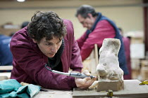25-01-2013 - Wood-carving workshop at the Centro Albayzin (the Andalucian School of Restoration), which is funded by the European Social Fund, the City of Granada and the province of Andalucia to provide training... © Philip Wolmuth