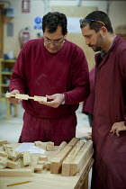 25-01-2013 - Carpentry and joinery workshop at the Centro Albayzin (the Andalucian School of Restoration), which is funded by the European Social Fund, the City of Granada and the province of Andalucia to provide... © Philip Wolmuth