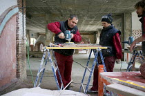 25-01-2013 - Artisanal construction workshop at the Centro Albayzin (the Andalucian School of Restoration), which is funded by the European Social Fund, the City of Granada and the province of Andalucia to provide... © Philip Wolmuth