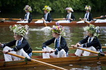 29-05-2013 - Eton College schoolboys rehearse the annual Procession of Boats ceremony the Fourth of June on the River Thames. For over two hundred years Eton has celebrated the birthday of King George III with the... © Philip Wolmuth