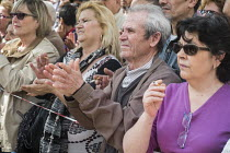 14-03-2015 - Podemos rally in Malaga a week before Andalusian parliamentary elections in which the grassroots party is hoping to make significant gains. © Philip Wolmuth