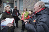 28-03-2015 - Tulip Siddiq, Neil and Glenys Kinnock, Emily Thornbury MP. General election 2015: Tulip Siddiq, Labour candidate for Hampstead & Kilburn, the second most marginal seat in the UK, during a canvassing s... © Philip Wolmuth