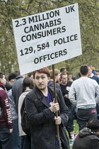 19-04-2015 - Legalise Cannabis Day, an annual 4/20 event in the campaign to legalise use rather than prohibition. Hyde Park, London. © Philip Wolmuth