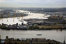 28-11-2007 - View of the City of Greenwich and the O2 Centre (formerly the Millennium Dome), London © Joanne O'Brien