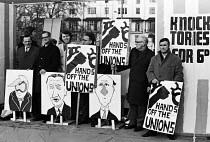08-12-1970 - National protest against the Industrial Relations Act 1970 trade union demonstration and rally against the proposed introduction of the Industrial Relations Act. © Gail Clarke Hall