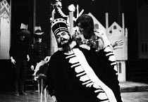 21-12-1970 - King Stag by Carlo Gotzi, the first ever production at the Young Vic in 1970 staged especially for children. Starring Harold Innocent as Tartaglia & Janet Gahan as Clarissa © Gail Clarke Hall