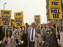 01-07-1989 - Norman Willis TUC Poll Tax Protest, Manchester, 1989 © John Harris