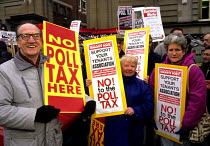 25-01-1989 - Anti Poll Tax lobby 1989 of Strathclyde Labour Council against their setting and implementing of the Poll Tax © John Harris