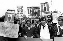 01-11-1983 - Keep British Milk on the Doorstep. TGWU trade union members lobby against imported milk, House of Commons, London, 1983. © Stefano Cagnoni