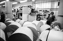 30-11-1983 - Stockport Messenger non-union scab workers in the printing plant of the Eddie Shah Messenger Newspaper Group publications during a dispute with the NGA members on strike at the Eddie Shah Messenger Ne... © John Smith