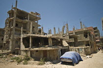 12-06-2008 - Destroyed houses at Nahr al-Bared Palestinian refugee camp, after the 2007 Lebanon conflict. © Ron Coelle