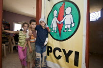 13-06-2008 - Children at a PCYI school, at Nahr al-Bared Palestinian refugee camp. © Ron Coelle