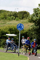 06-07-2004 - Cycle track for specially adapted at a special school, County Durham. © Roy Peters