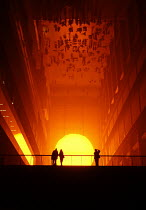 04-01-2004 - Art installation by Olaf Eliasson at the Tate Modern, The Weather Project. © Stefano Cagnoni