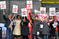 03-02-2011 - Childrens Speech Therapists stage a one day strike in Southwark against cuts in the Childrens Speech and Language Therapy Services which will mean a one third reduction in jobs and in the provision of... © Stefano Cagnoni