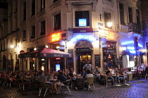 21-08-2012 - The world famous Delirium Bar in Brussels which serves a huge range of different beers. Known for its long beer list, standing at 2,004 different brands in January 2004 as recorded in the The Guinness... © Stefano Cagnoni