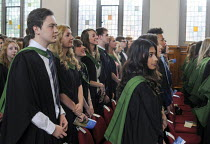 16-07-2014 - Maths Graduands waiting their turn to collect their degrees at their Graduation ceremony at the University of Leeds. © Stefano Cagnoni