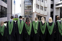 16-07-2014 - Maths Graduates lining up for a group photograph after their Graduation ceremony at the University of Leeds. © Stefano Cagnoni