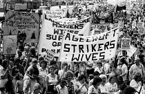 11-08-1984 - Miners Strike 1984, WAPC protest in support organised by miners wives, London © Stefano Cagnoni
