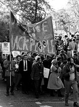11-11-1985 - Justice for Black People demonstration 1985 following the deaths of two innocent black women, Cherry Groce and Cynthia Jarrett. Paul Boateng can be seen dressed in suit and tie near the front of the m... © Stefano Cagnoni