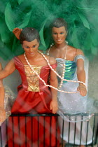 28-05-2006 - Gay Kens in a shop window in the old French Quarter of New Orleans. © Howard Davies