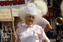 05-08-2006 - 'Babs Windsors at Gay Pride march which had the film theme Carry On ... , Brighton, UK 2006 © Howard Davies