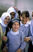 01-07-2003 - Palestinian school children at an UNRWA primary school in Shati / Beach refugee camp, Gaza 2003 © Howard Davies