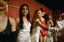 11-05-2007 - Ladyboys or kathoeys (Thai) at one of a number of popular cabaret shows in Bangkok. The term can simply refer to an effeminate gay male who dresses as a woman. But many of the males have full sex chan... © Tom Parker